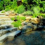 designscape, hardscaping, limestone, natural stone steps, lake monroe, bloomington indiana,