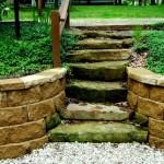 designscape, hardscaping, sandstone, natural stone steps, artist drive, nashville indiana,