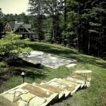 designscape, hardscaping, sandstone, natural stone steps, claylick road, nashville indiana,