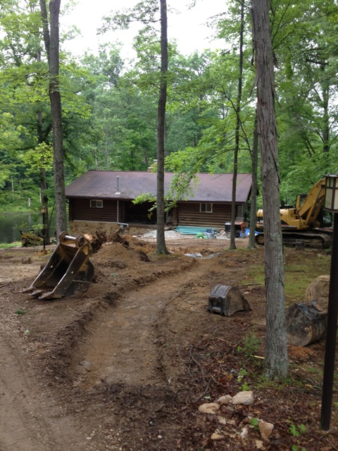 designscape, hardscaping, drainage solutions, private lake cabin, nashville, brown county, indiana